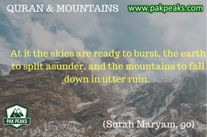 PakPeaks - Surah Maryum, Verse 90 - PakPeaks - Holy Quran and Mountains