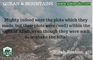 Surah Ibrahim , Verse 46- PakPeaks - Holy Quran and Mountains