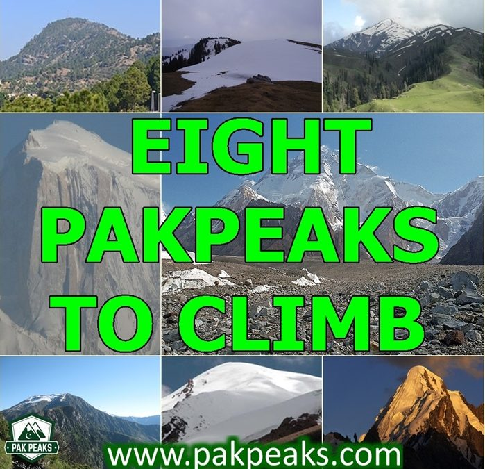 First Eight PakPeaks to Climb